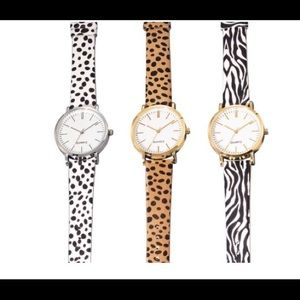 Summer Animal Print strap watch